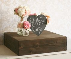 Rustic Wood Cake Stand Country Barn Wedding Decor by braggingbags