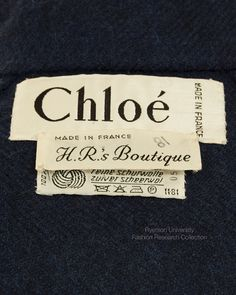 CHLOE Made in France. H.R.Boutique, FRC2009.01.676 A+B