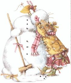 Marjolein Bastin snowman illustration