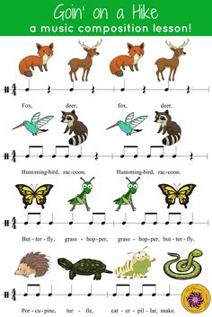 Fun & easy music rhythm, composition and instrument rotation activity to add to your elementary music lesson plans. Engaging eighth Kindergarten Music, Teaching Music, Learning Piano, Music Activities, Music Games, Music Education Games, Fun Music, Movement Activities, Elementary Music Lessons