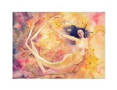 Fairy Fun 8x10 print whimsical nude woman by SamNagel