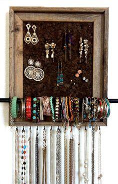 11x14 Custom Jewelry Organizer by AfterTheLeavesFall on Etsy, $40.00 Diy Jewelry, Jewelry Making, Custom Jewelry, Jewelry Organization, Etsy, Ideas, Home Decor, Homemade Home Decor, Interior Design