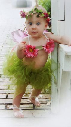 Baby Girl Fairy TutuMoss Green/Tie Top & by MYSWEETCHICKAPEA, $69.00