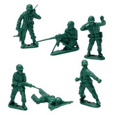 Vintage Toys Green Army Men - Green Army Men - Take over any battlefield with these classic green army men! Measures 10 x 6 x 2 in pkg. 1960s Toys, Retro Toys, Vintage Toys, Antique Toys, 1970s, My Childhood Memories, Childhood Toys, Green Army Men, Toy Soldiers