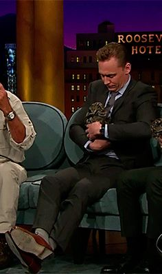 Tom Hiddleston on The Late Late Show with James Corden https://www.youtube.com/watch?v=E4MUXs4IHtY&feature=youtu.be
