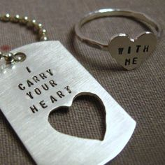 cute dog tag ring idea..boyfriend/girlfriend wife/husband