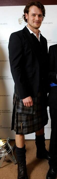 Sam Heughan at the BAFTA's - sweet Jesus, he's better than the Jamie Fraser in my head!