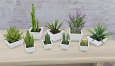 KiKi Plants I made a new pot and repotted a few plants. All pots comes in 10 colors. • Snake Plant - deco/plants • Cactus Single - deco/plants • Cactus Trio - deco/plants • Cactus Barrel -...
