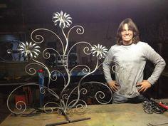 Welded Metal Flowers