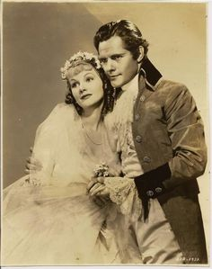 Elizabeth Allan with Lionel Barrymore as Nichette The Bride in the 1936 MGM film Camille starring Great Garbo and Roger Taylor