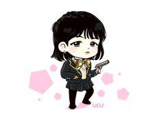 Suga XD or rather Yoonji Jimin Fanart, Kpop Fanart, Bts Chibi, Anime Chibi, Bts Gifs, Min Yoonji, Cartoon Fan, Bts Memes Hilarious, Bts Drawings