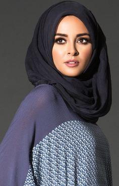 Chiffon Chic Midnight Blue Hijab | Aab