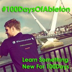 100 Days Of Ableton  To help you be creative and express yourself Musically in your own ideas, using the most inspiring piece of Music making software that exists. #100DaysOfAbleton #Ableton #live9 #abletontutorial #musicdesign
