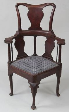 18th-19th-century-high-back-corner-chair-Lot-147 Corner Furniture, Corner Chair, Antique Chairs, Sofa Chair, 19th Century, 18th, Dining Chairs, Living Room, Antiques