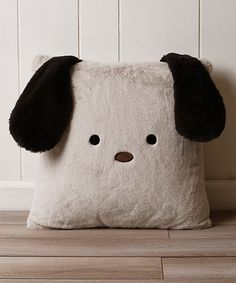Another great find on #zulily! Taupe Puppy Plush Faux Fur Pillow #zulilyfinds