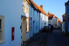 The pretty streets of Blakeney on the North Norfolk coast UK