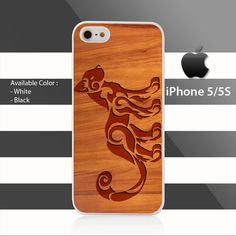 NEW Tribal Cat on Wood iPhone 5 5s Case Cover