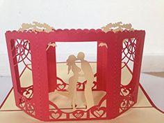 Amantes 3d Pop Up Tarjetas de felicitación aniversario, San Valentín, boda...