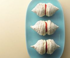 Coconut kisses with ginger filly Chantilly and a strawberry slice recipe Candy Cookies, Cupcake Cookies, Cupcakes, Eat Your Books, Strawberry Slice, French Macaroons, Caribbean Recipes, Fun Cooking, Sugar And Spice