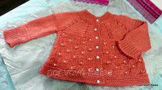 Eu que Fiz - Vovó Baisa: Casaquinho de tricô - ponto borboleta