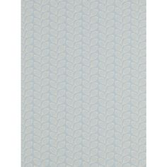 Buy Jane Churchill Retro Leaf Wallpaper, Blue, J137W-08 Online at johnlewis.com