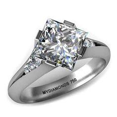 Unique Princess Cut Diamond Engagement Rings