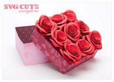 Crush On U Boxes SVG Kit : SVG Files for Sure Cuts A Lot - SVGCuts.com - tutorial for roses on the site