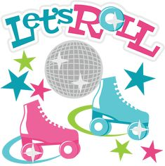 Lets Roll SVG Scrapbook Collection roller skating svg file ...