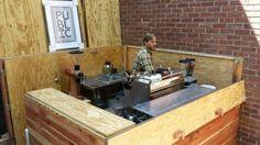 Tiny coffee shop inside a bike shop.