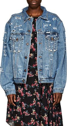 FORTE COUTURE Women's Tokyo Embellished Denim Jacket Doll Clothes Patterns, Clothing Patterns, Cool Jackets, Street Look, New Wardrobe, Barneys New York, Buy Dress, Distressed Denim, Jeans Style