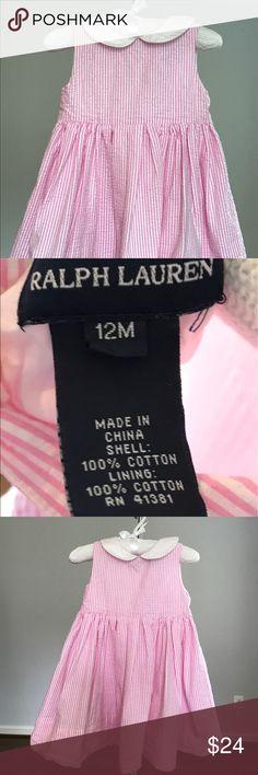 Ralph Lauren pink/white Seersucker Dress size 12 M Ralph Lauren toddler girls pink/white Seersucker Dress size 12 Months Ralph Lauren Dresses Formal
