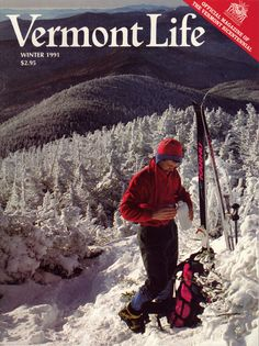 Winter 1991-92. Taking a break during a ski tour on Addison County's Mount Abraham, photograph by Alden Pellett.