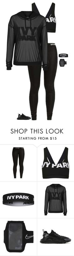 """Ivy Park Workout"" by bellarose99 ❤ liked on Polyvore featuring Topshop and NIKE"