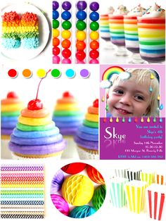 April Showers Rainbow Party Ideas - colorful rainbow decorations DIY printables, food and favors for a gir or boy birthday celebration! Rainbow Dash Party, Rainbow Parties, Rainbow Decorations, Food Decorations, Bird Party, Celebrate Good Times, Minion Birthday, April Showers, Childrens Party