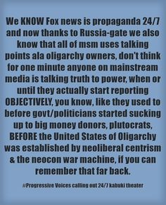 Looking at you David Brock, Shareblue (formerly BlueNationReview), DailyNewsBin, Rachel Maddow, Olbermann, there are some real disappointments in this group, others, not so much. We see thru BOTH sides of the bullshit.  Since when do dem values embrace propaganda? Since #ElectionFraud2016 & the marginalization of Sanders & Progressives everywhere&mainstreaming hacking our vote, our voice.  So, a great big fuck you is owed to msm media, you have zero cred. #AlternativeMedia speaks…