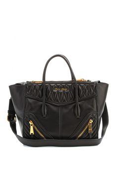 3982f2b6f099 Miu Miu Black Leather Tote