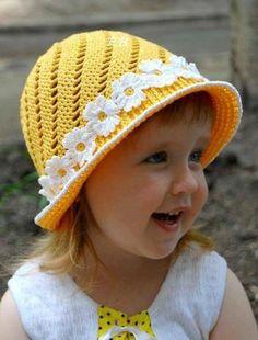 Un chapeau enfant pour l'été - La Grenouille Tricote