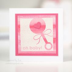Oh Baby Mini Card by Lexi Daly for Papertrey Ink (May 2014)
