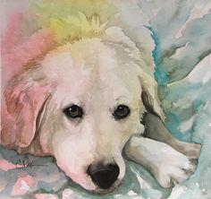 Carole Pivarnik, dog portrait artist from Watercolor Gallery
