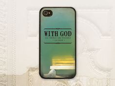 Christian cell phone case iPhone 4 case 4s iPhone 5 case 5s Samsung Galaxy S3 Galaxy S4 case Scripture Matthew 19:26 Bible verse C2335 on Etsy, £11.09