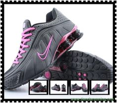 sports shoes dd47a e9d0b marcas de zapatos Nike Shox R4 Mujeres Negro Rosa Rojo Shox-0007