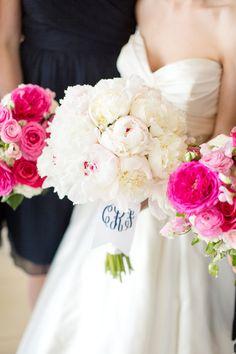 fluffy white peony bouquet   Katelyn James #wedding