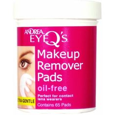 Andrea Eye Q's Oil-free Eye Makeup Remover Pads, (Pack of Andrea Eye Q's Oil-Free Eye Makeup Remover Pads quickly and effectively remove eye makeup. Formulated with Aloe Vera, these soothing pads are ideal for contact lens wearers. Best Makeup Remover Wipes, Oil Free Makeup Remover, Eye Make-up Remover, Makeup Removers, Best Selling Makeup, Best Makeup Products, Beauty Products, Makeup Brands, Makeup Tips