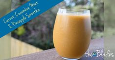Carrot, Cucumber, Mint and Pineapple Smoothie in the Thermomix Cucumber Smoothie, Smoothie Blender, Smoothie Diet, Smoothies With Almond Milk, Green Smoothie Recipes, Yummy Smoothies, Healthy Meals For Kids, Healthy Recipes, Weight Loss Smoothies