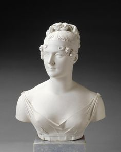 Bust of the Empress Josephine in porcelain, by Alexandre Brachard the Younger, after the marbre one by François-Joseph Bosio. 1809. Photo © RMN - Daniel Arnaudet Tumblr