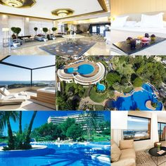This luxury hotel is set in the exclusive Bonanova district, a secluded location in Palma de Mallorca. Hotel Deals, Spain, Mansions, Luxury, House Styles, Home Decor, Palms, Majorca, Decoration Home