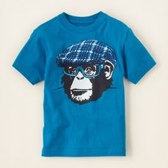 boy - graphic tees - monkey graphic tee | Children's Clothing | Kids Clothes | The Children's Place