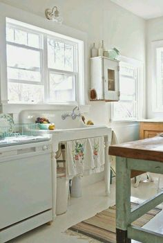 Before And After: Shabby Chic To Modern Vintage Kitchen Makeover   Vintage  Kitchen Sink