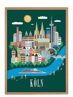 Neues Städteposter mit einem Design des Human Empire Studios: Köln Poster (50x70cm)