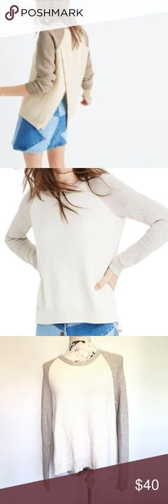 1294d0c553 Madewell Province Cross-Back Pullover Sweater Madewell Beige Province  Cross-Back Pullover Sweater Colorblock